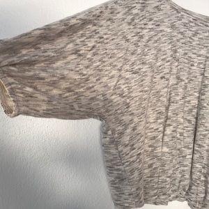 Vintage America Tops - Vintage America Heathered Bubble Hem Sweatshirt
